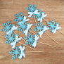 Frozen Cupcake Topper - Blue
