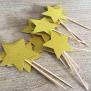 Star Cupcake Topper - Gold