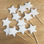 Star Cupcake Topper - Silver