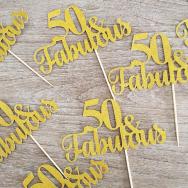 Fabulous 50 Cupcake Topper